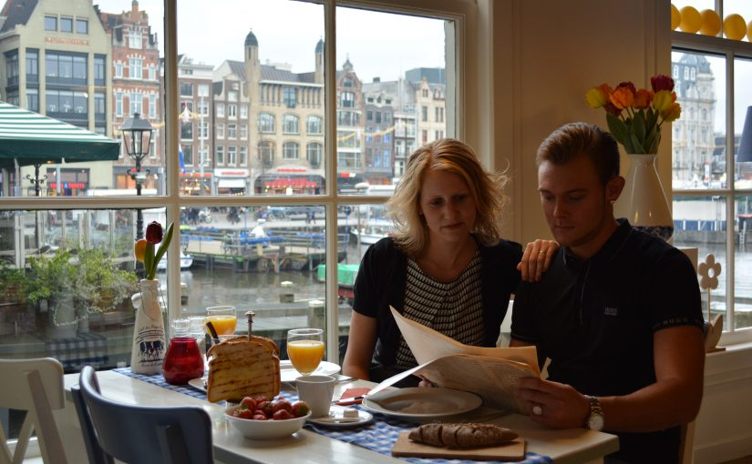 Lunchroom in the centre of Amsterdam